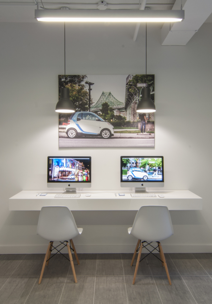 Car2go montr al tad architecture design for Shared office space montreal